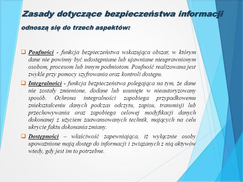 Zasady dotyczące bezpieczeństwa informacji