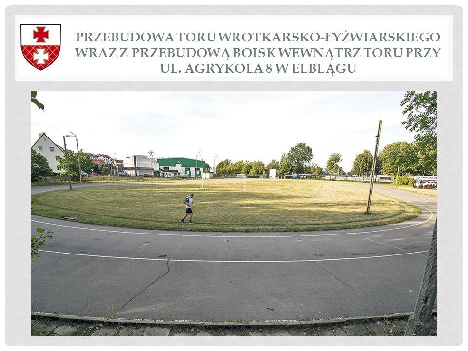 Przebudowa toru wrotkarsko-łyżwiarskiego wraz z przebudową boisk wewnątrz toru przy ul.