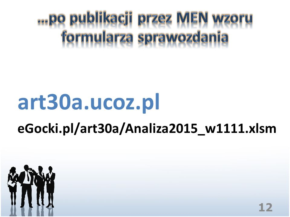 …po publikacji przez MEN wzoru formularza sprawozdania