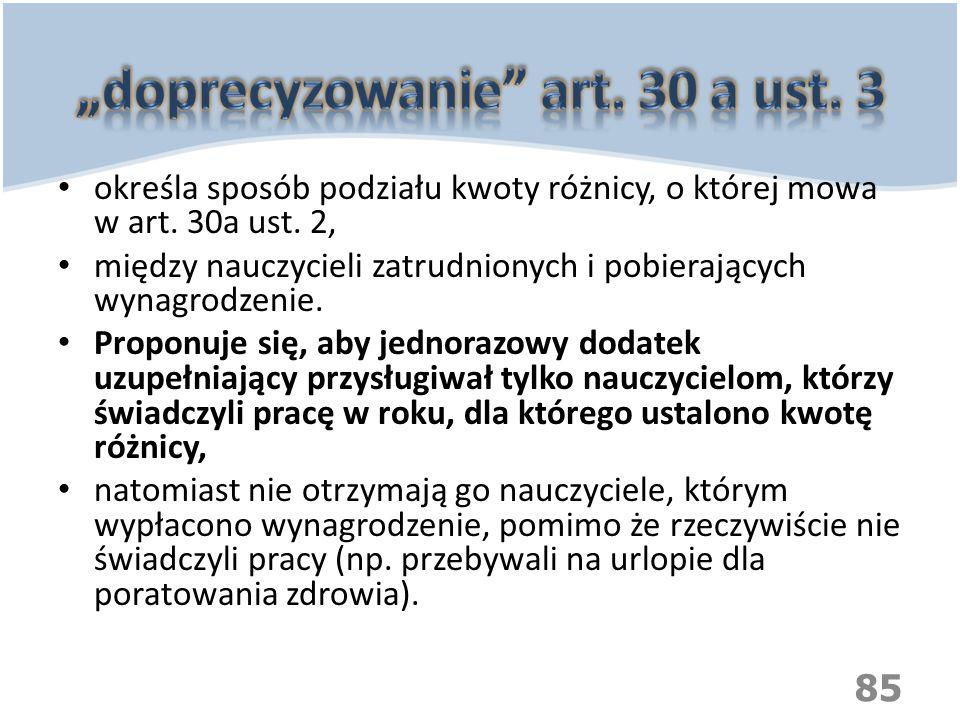 """""""doprecyzowanie art. 30 a ust. 3"""