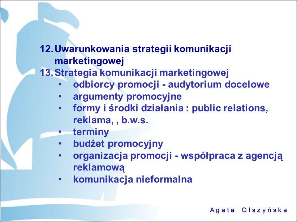 Uwarunkowania strategii komunikacji marketingowej