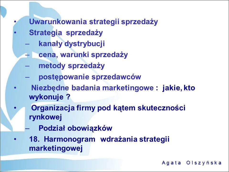 Uwarunkowania strategii sprzedaży