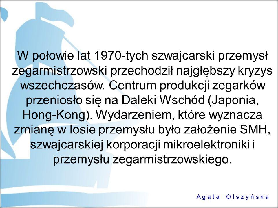 W połowie lat 1970-tych szwajcarski przemysł zegarmistrzowski przechodził najgłębszy kryzys wszechczasów.