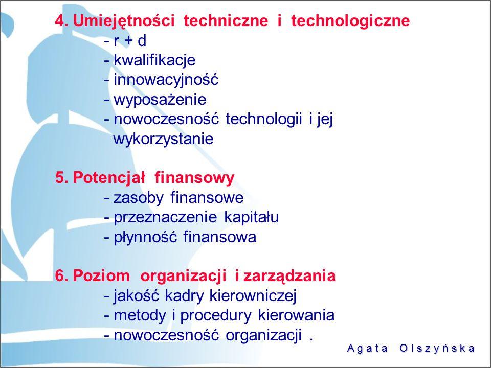 4. Umiejętności techniczne i technologiczne