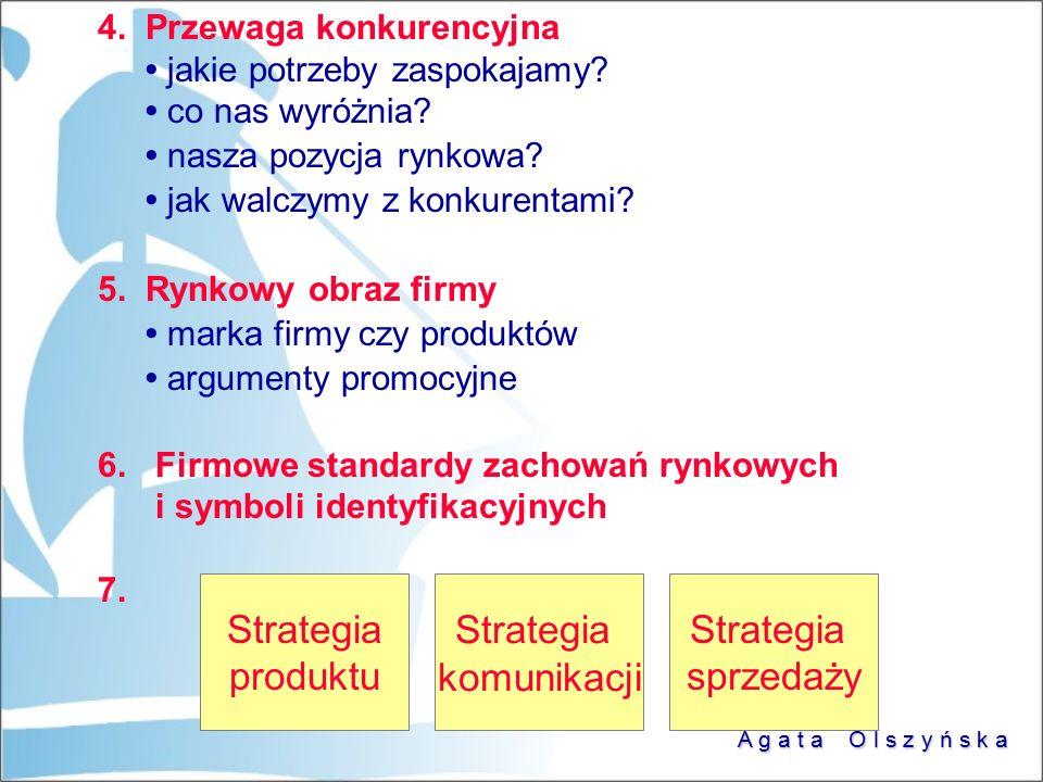 Strategia produktu Strategia komunikacji Strategia sprzedaży