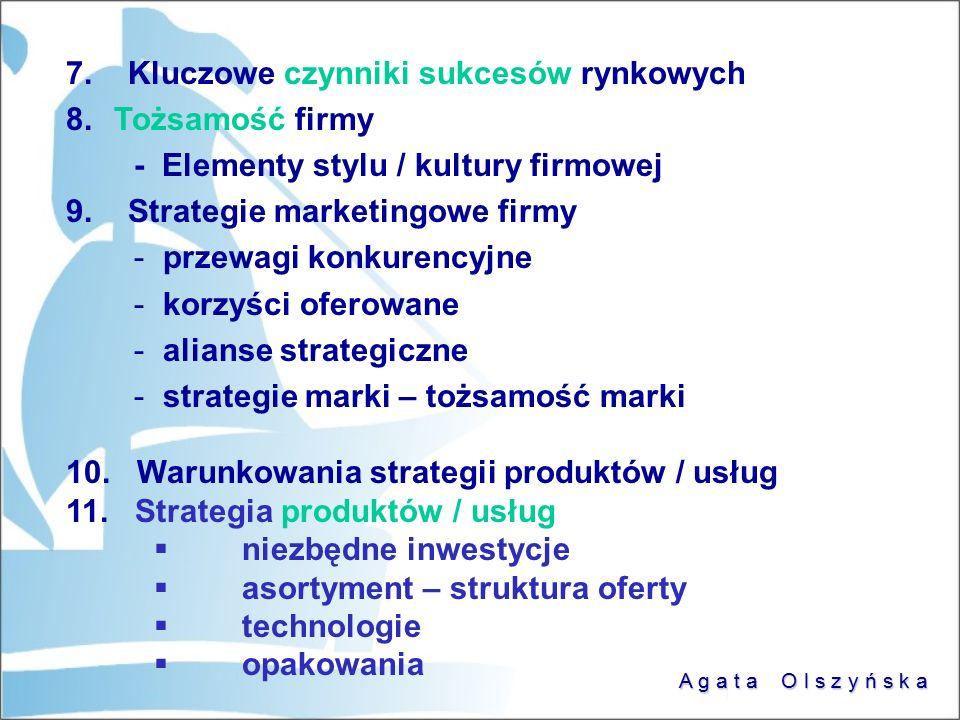 7. Kluczowe czynniki sukcesów rynkowych