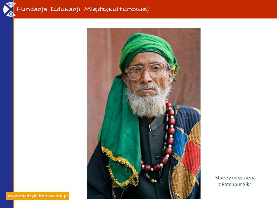 Starszy mężczyzna z Fatehpur Sikri