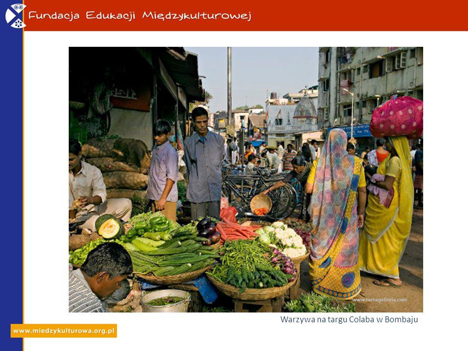 Warzywa na targu Colaba w Bombaju