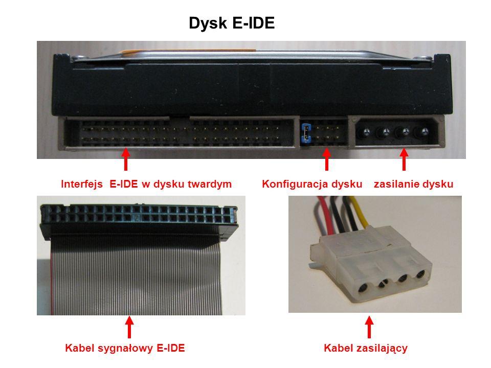 Dysk E-IDE Interfejs E-IDE w dysku twardym Konfiguracja dysku