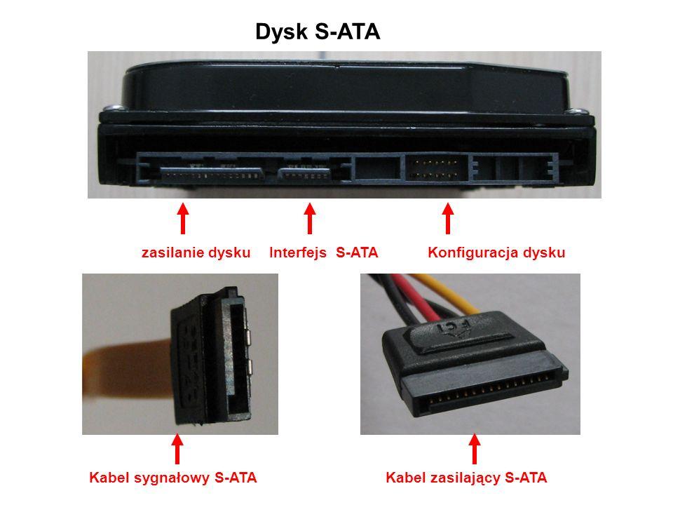 Dysk S-ATA zasilanie dysku Interfejs S-ATA Konfiguracja dysku