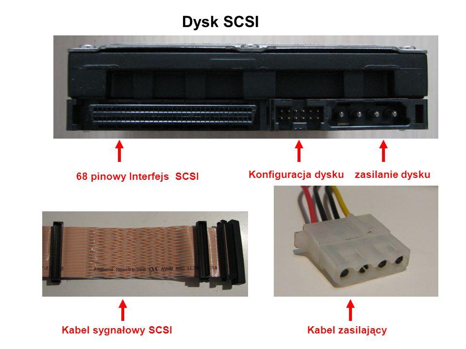 Dysk SCSI 68 pinowy Interfejs SCSI Konfiguracja dysku zasilanie dysku