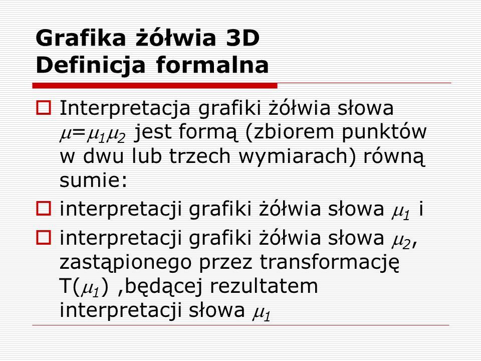 Grafika żółwia 3D Definicja formalna