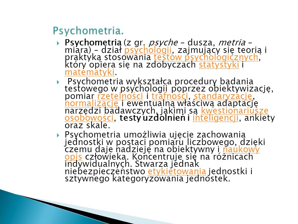 Psychometria.