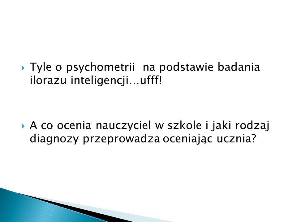 Tyle o psychometrii na podstawie badania ilorazu inteligencji…ufff!