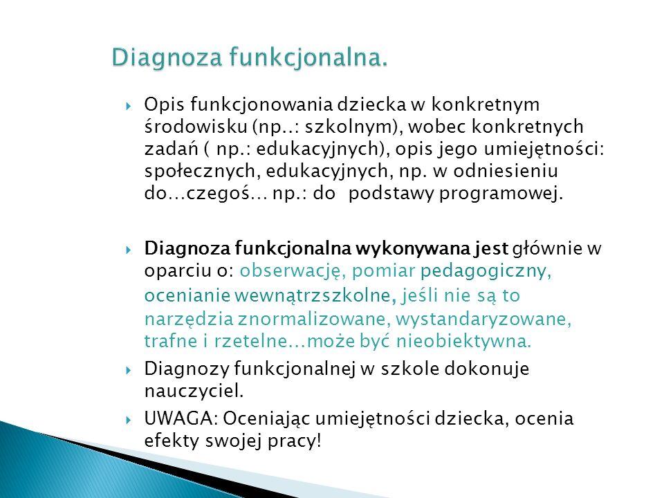 Diagnoza funkcjonalna.