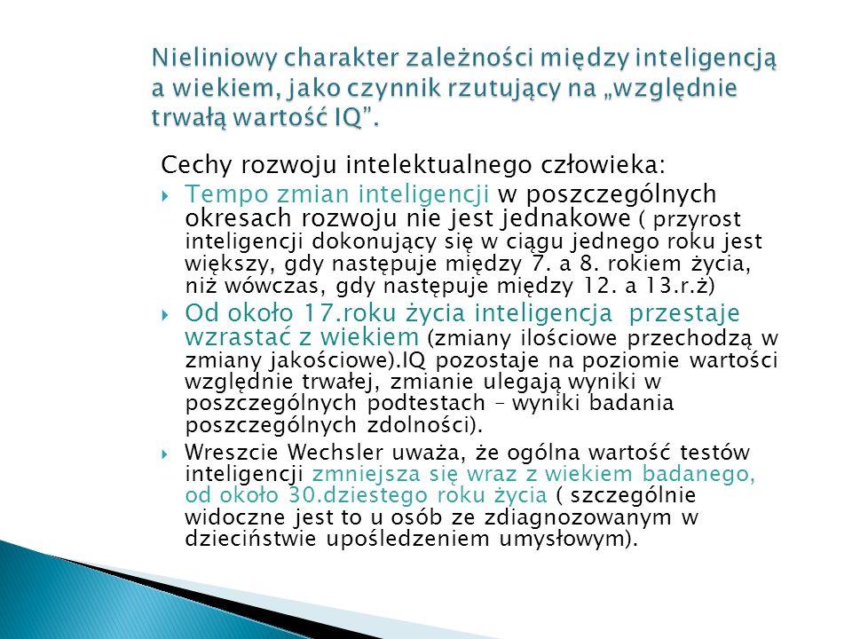 Cechy rozwoju intelektualnego człowieka: