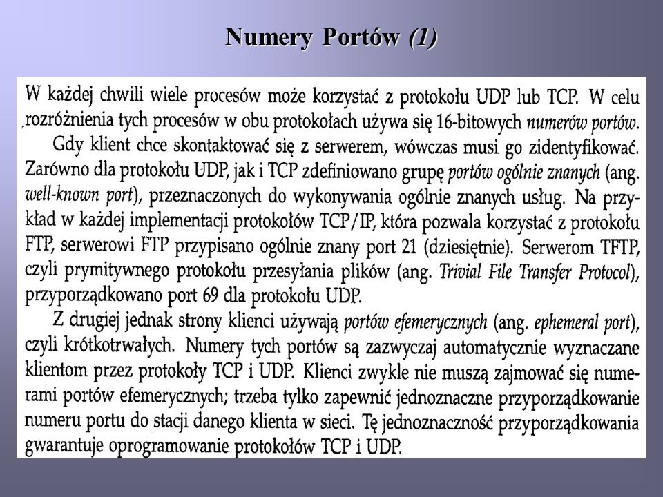 Numery Portów (1)