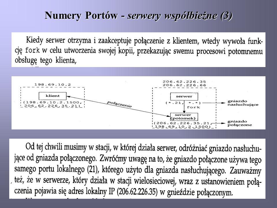 Numery Portów - serwery współbieżne (3)