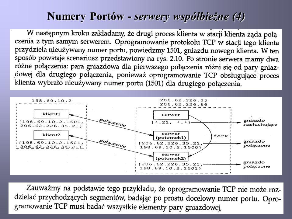 Numery Portów - serwery współbieżne (4)