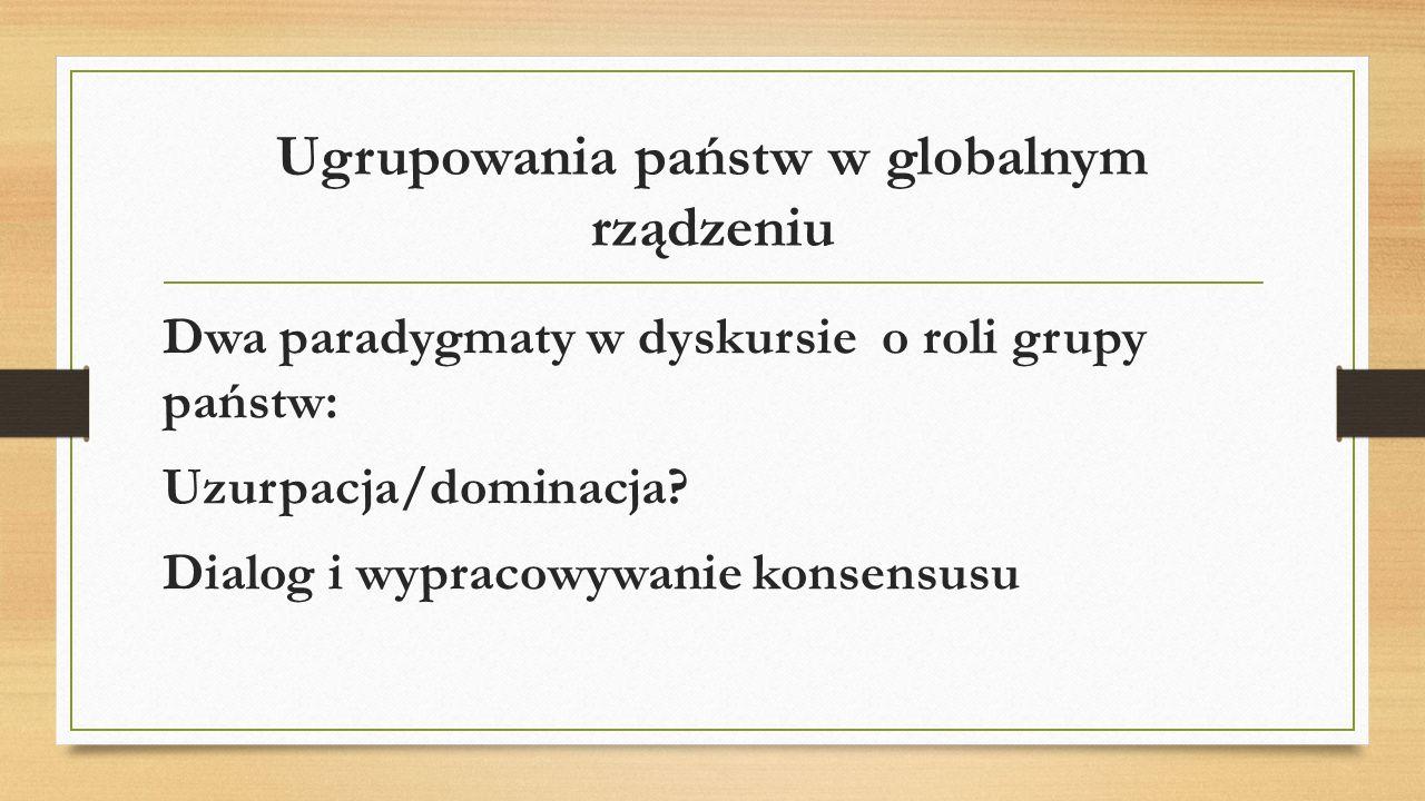 Ugrupowania państw w globalnym rządzeniu