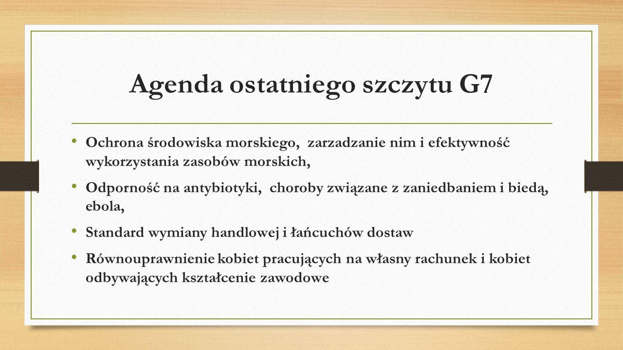 Agenda ostatniego szczytu G7
