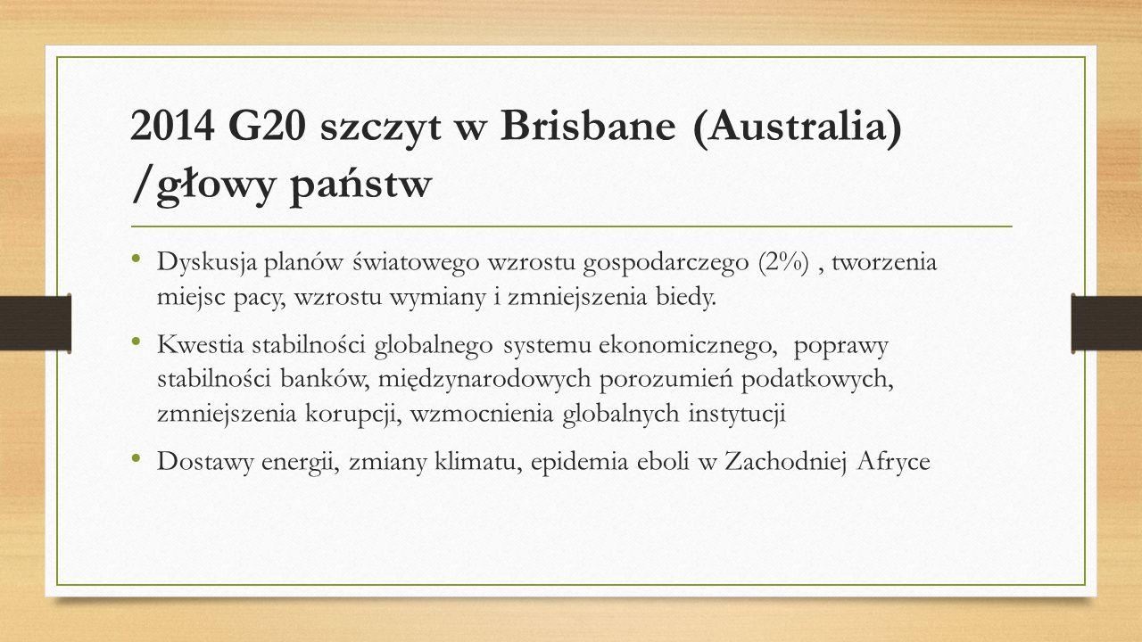 2014 G20 szczyt w Brisbane (Australia) /głowy państw