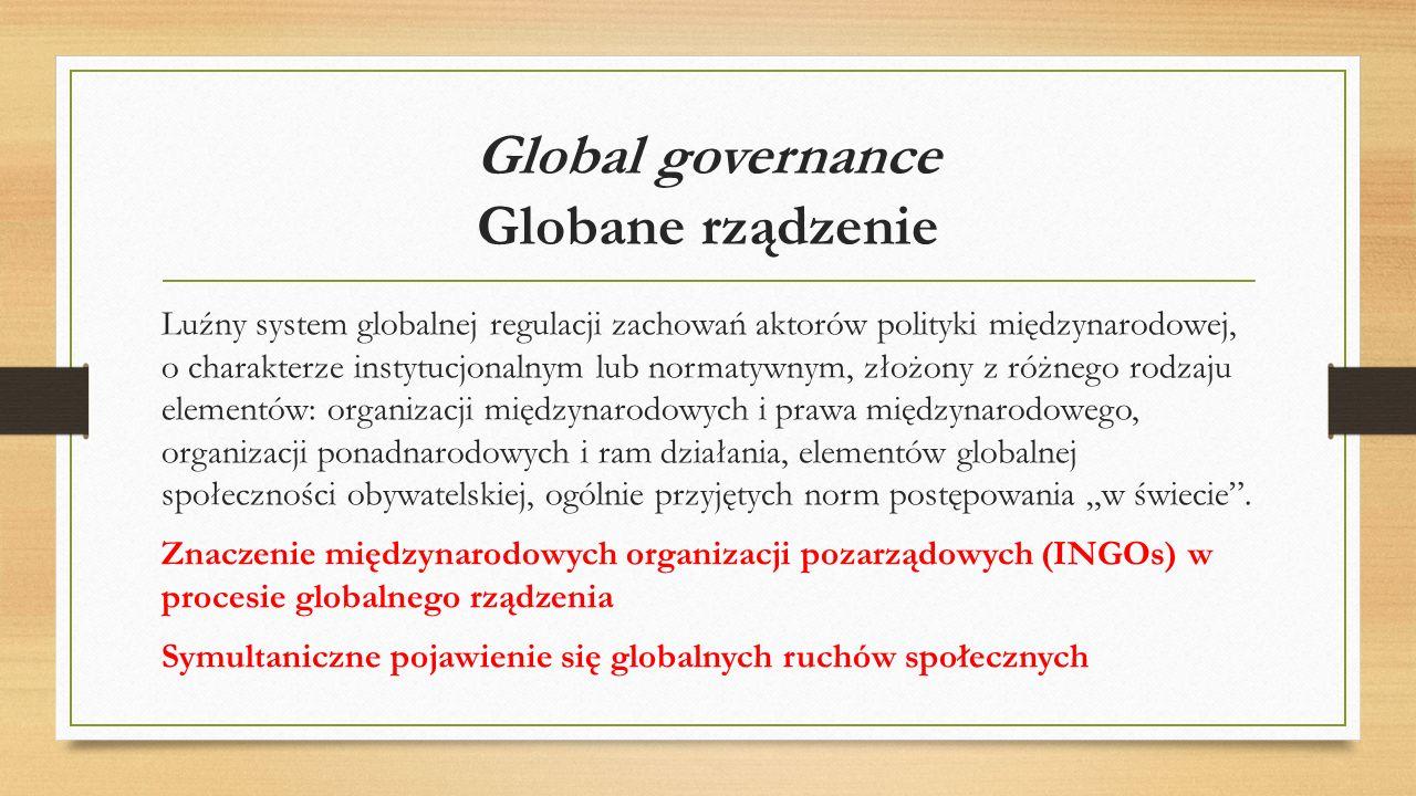 Global governance Globane rządzenie