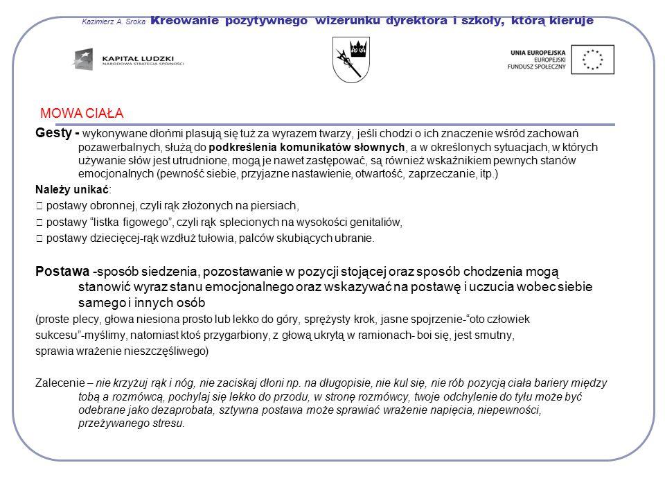 Kazimierz A. Sroka Kreowanie pozytywnego wizerunku dyrektora i szkoły, którą kieruje