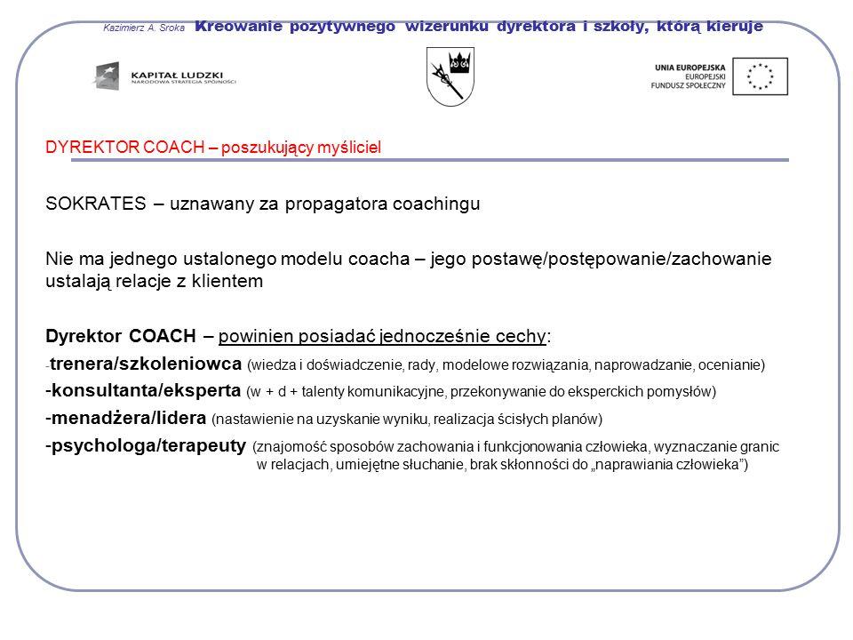 SOKRATES – uznawany za propagatora coachingu