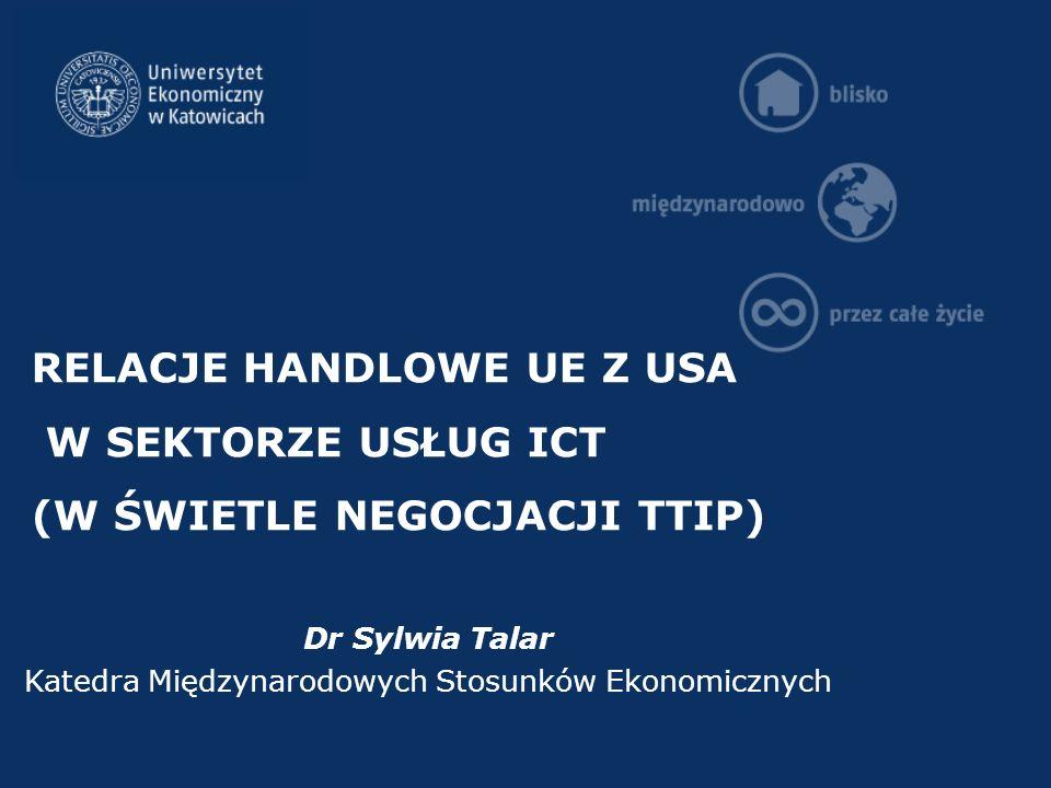 Dr Sylwia Talar Katedra Międzynarodowych Stosunków Ekonomicznych