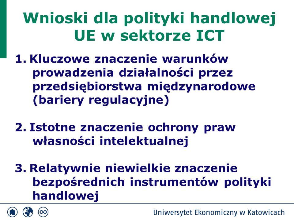 Wnioski dla polityki handlowej UE w sektorze ICT