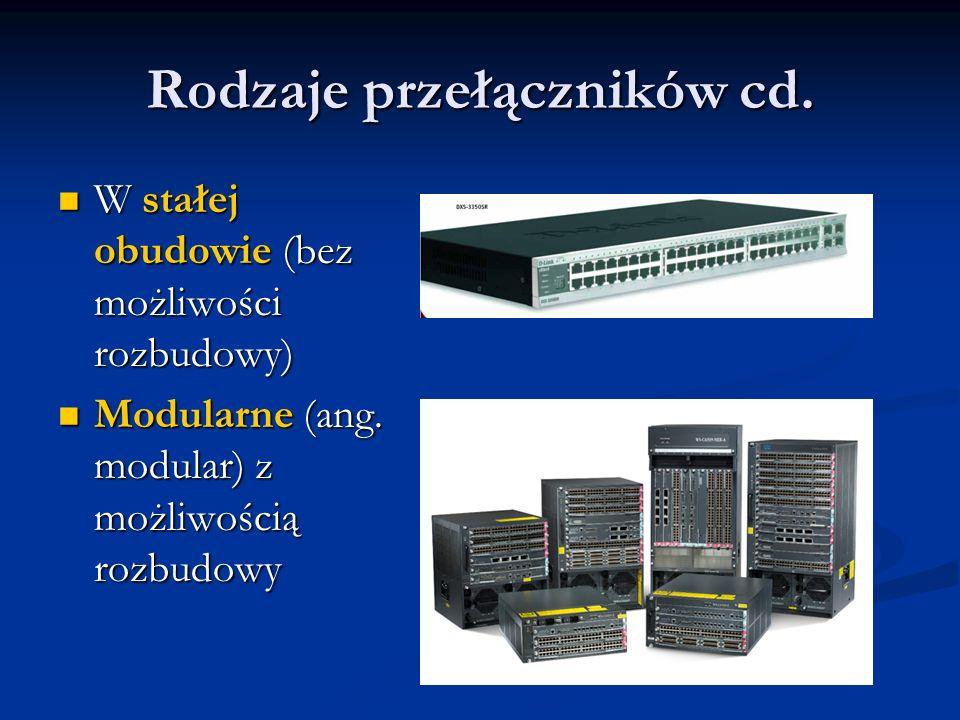 Rodzaje przełączników cd.
