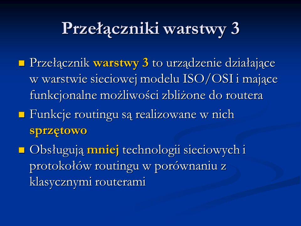 Przełączniki warstwy 3