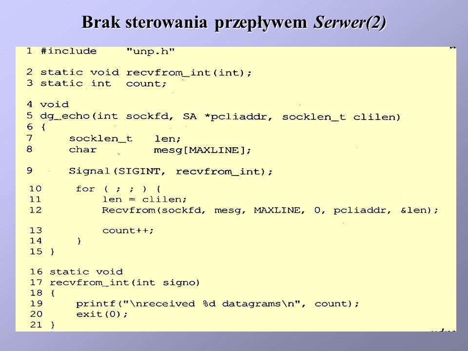 Brak sterowania przepływem Serwer(2)