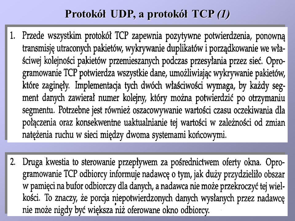 Protokół UDP, a protokół TCP (1)