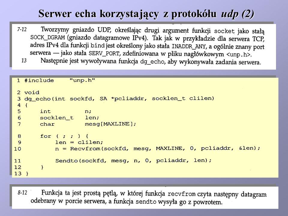 Serwer echa korzystający z protokółu udp (2)