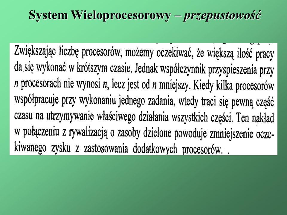 System Wieloprocesorowy – przepustowość