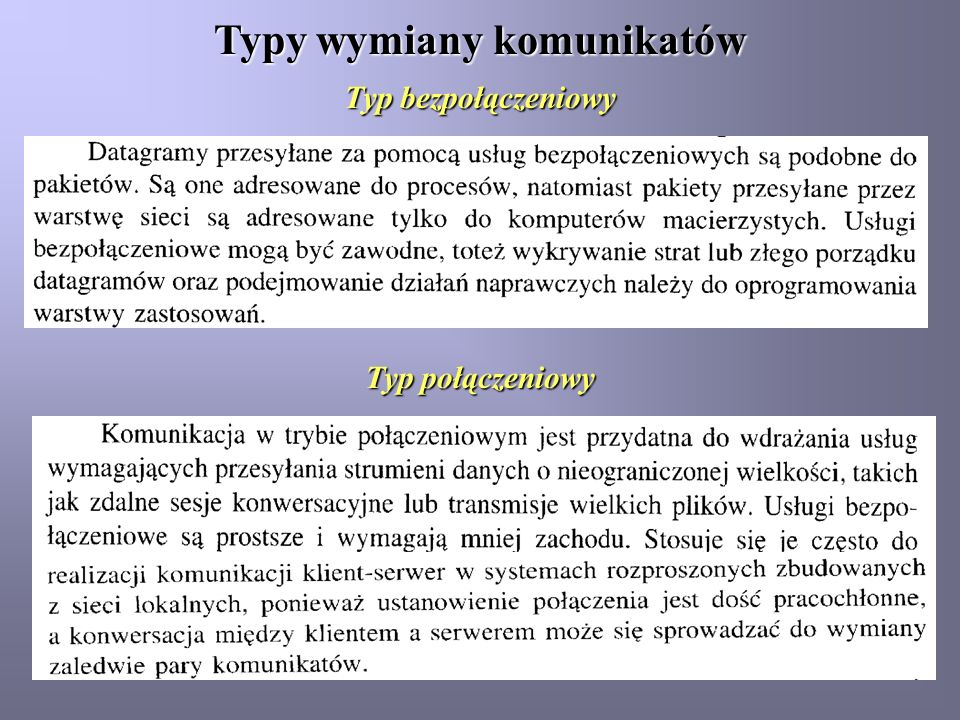Typy wymiany komunikatów