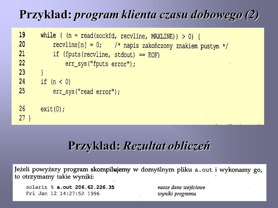 Przykład: program klienta czasu dobowego (2)