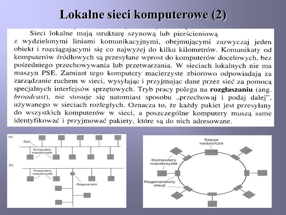 Lokalne sieci komputerowe (2)