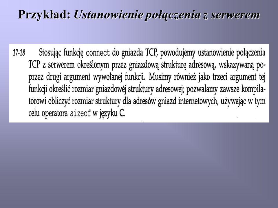 Przykład: Ustanowienie połączenia z serwerem