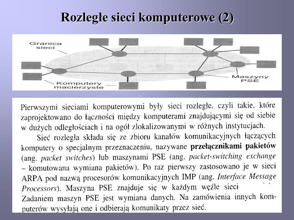 Rozległe sieci komputerowe (2)