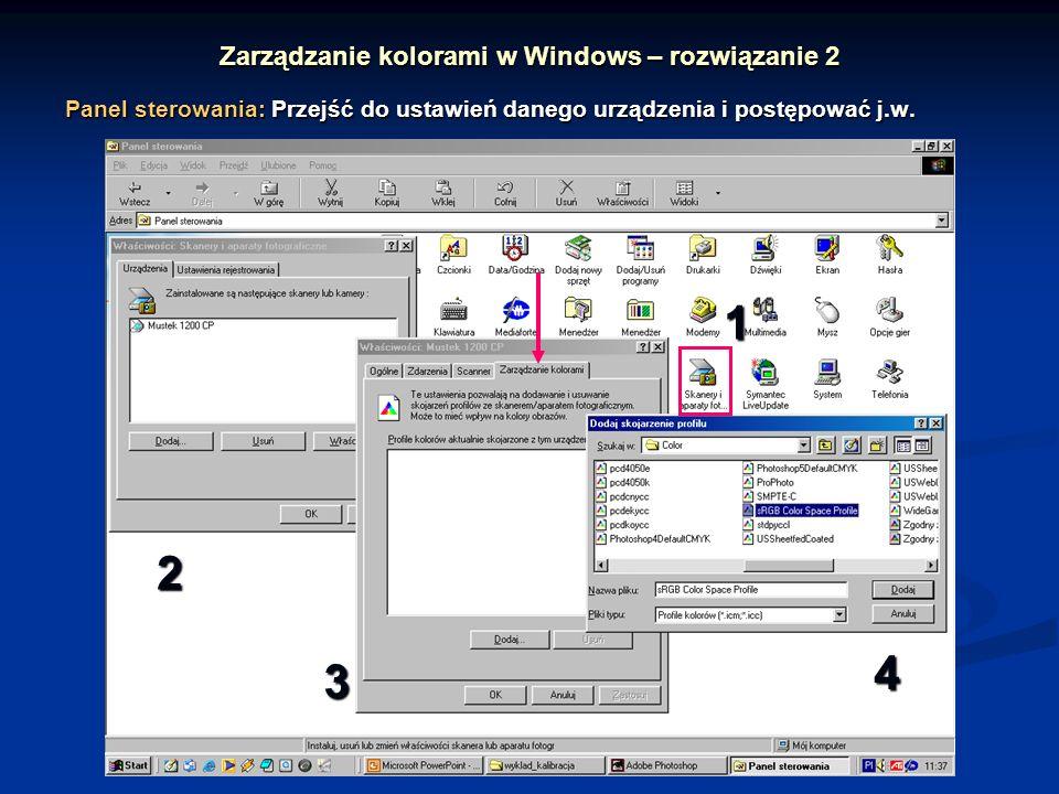 Zarządzanie kolorami w Windows – rozwiązanie 2