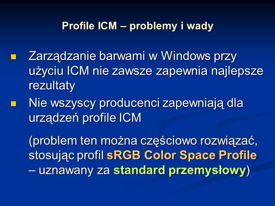 Profile ICM – problemy i wady
