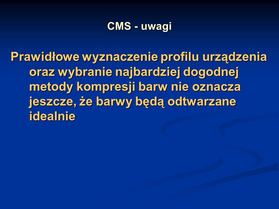 CMS - uwagi