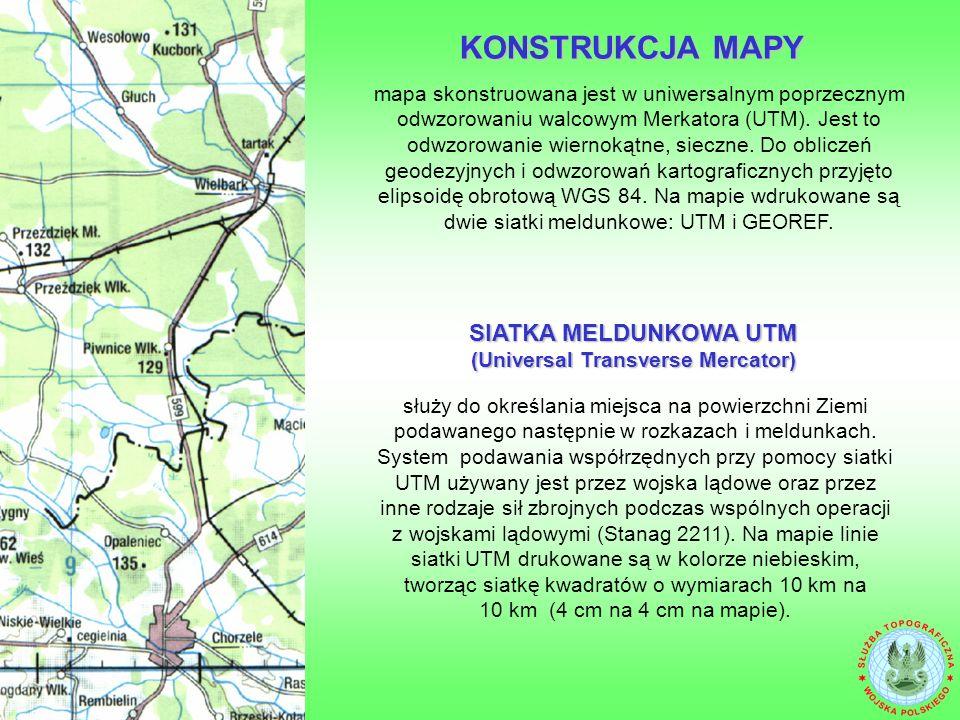 SIATKA MELDUNKOWA UTM (Universal Transverse Mercator)