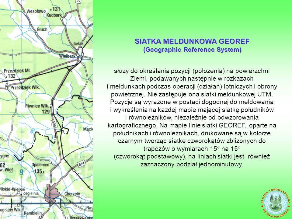 SIATKA MELDUNKOWA GEOREF (Geographic Reference System)
