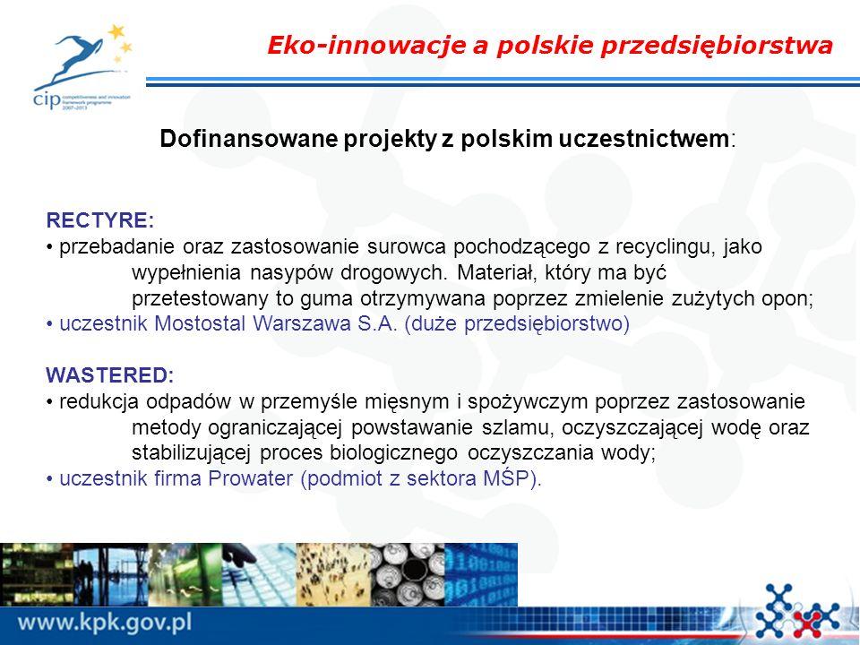 Dofinansowane projekty z polskim uczestnictwem: