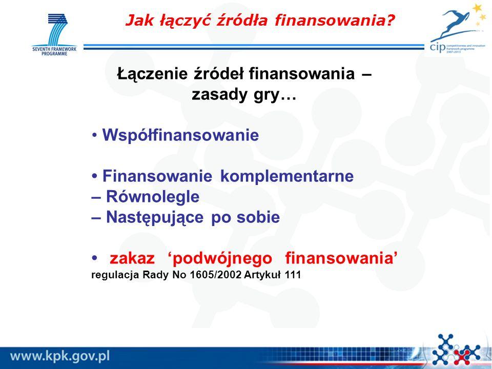 Łączenie źródeł finansowania – zasady gry…