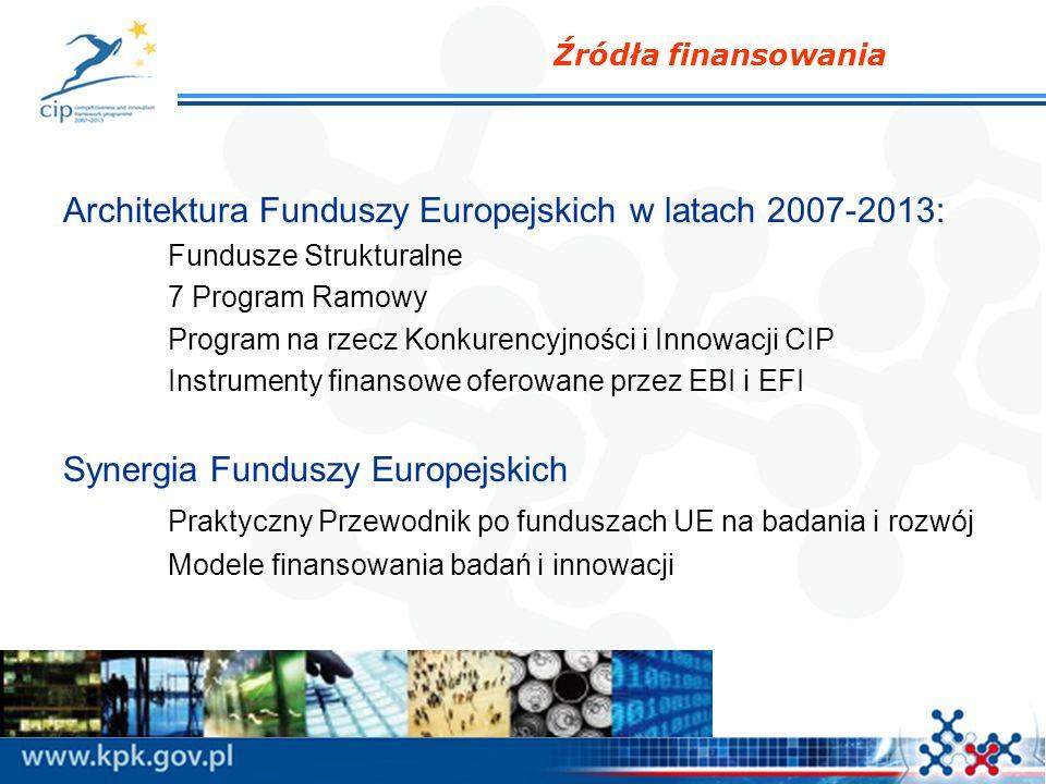 Architektura Funduszy Europejskich w latach 2007-2013: